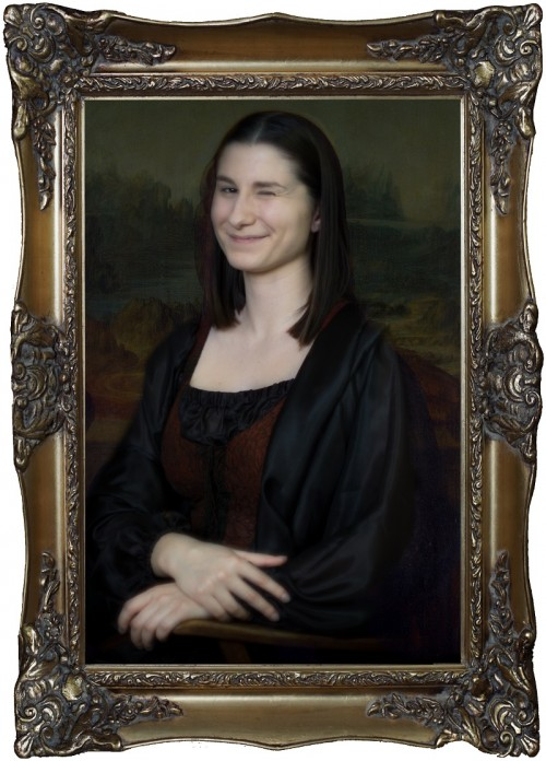 Mona Lisa ohne Rahmen